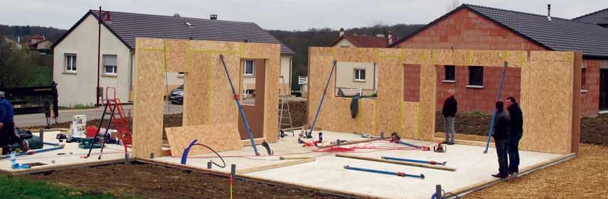 Démarrage construction et pose de murs ossature bois à Metz